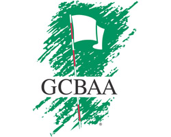 The logo for the Golf Course Builders Association of America