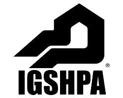 A logo for the International Ground Source Heat Pump Association