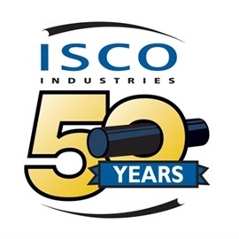 A logo for ISCO 50 years in business