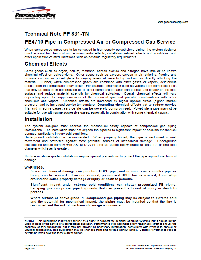 Technical note PP-831-TN