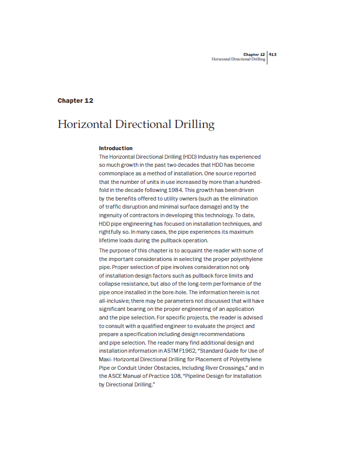 A page introducing horizontal directional drilling