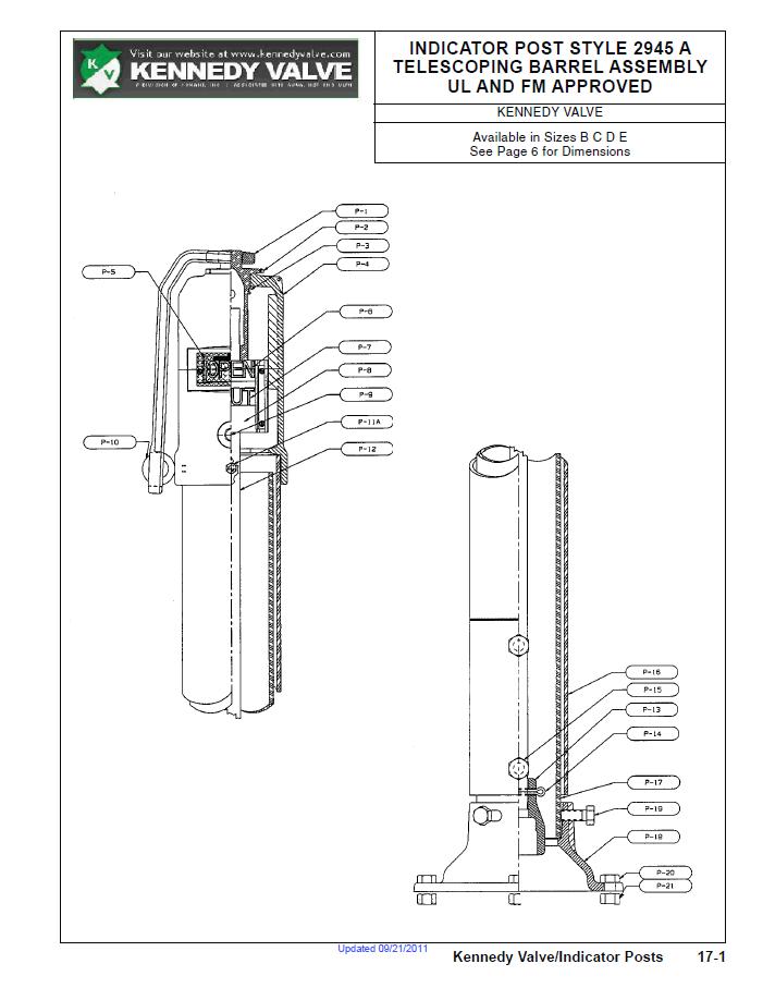 Telescoping Barrel Assembly Specification Sheet