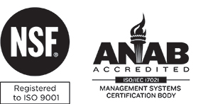 The logo for the ANSI National accreditation Board