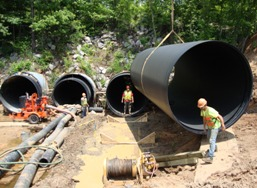 Large Diameter HDPE piping for Reed Creek