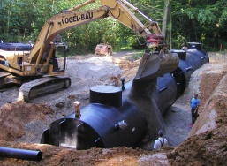 HDPE water retention tanks