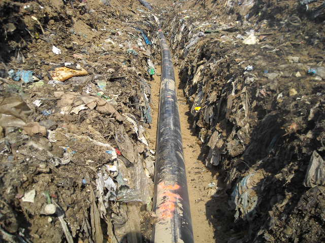 HDPE pipe landfill irrigation system