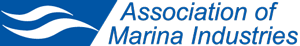The logo for the Association of Marina Industries