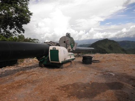 An HDPE hydroelectric power project installed in Choloma, Guatemala