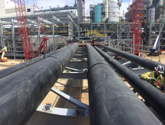 HDPE pipe at a mine
