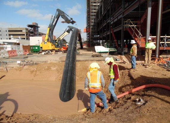 PE-RT pipe horizontal directional drilling installation in Tuscon, AZ