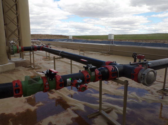HDPE Water management system in Williston, North Dakota