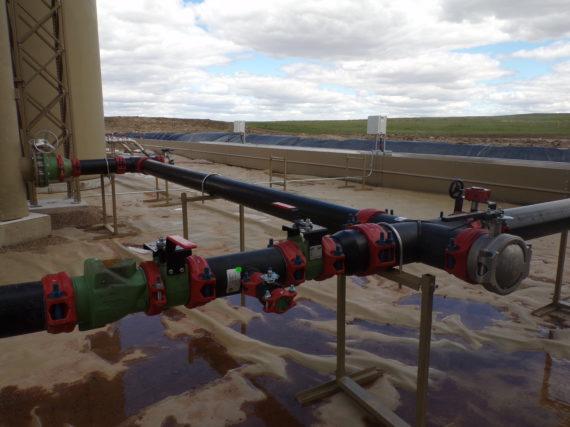 HDPE Water management system in Williston, North Dakota