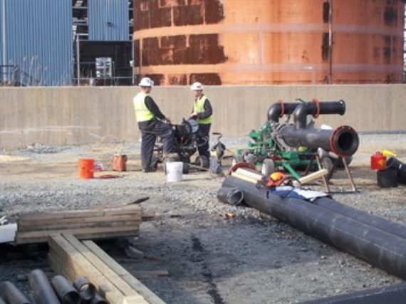 HDPE pipe project in Northern Michigan