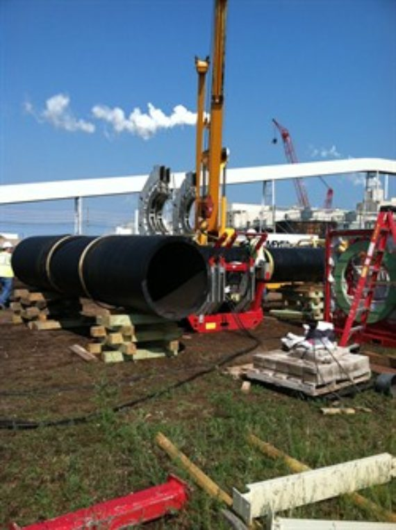 HDPE pipe installed at a paper mill in Quinnesec, Michigan