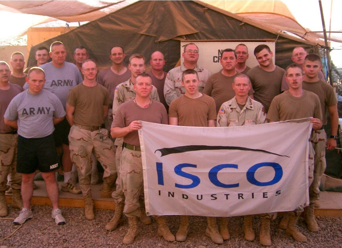 Veteran Group with ISCO flag