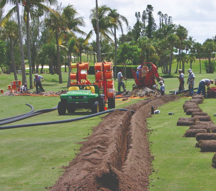 HDPE Golf Course Piping